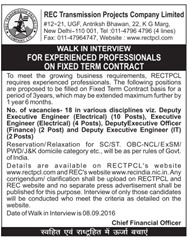 RECTPCL Advertisement 2016 www.indgovtjobs.in