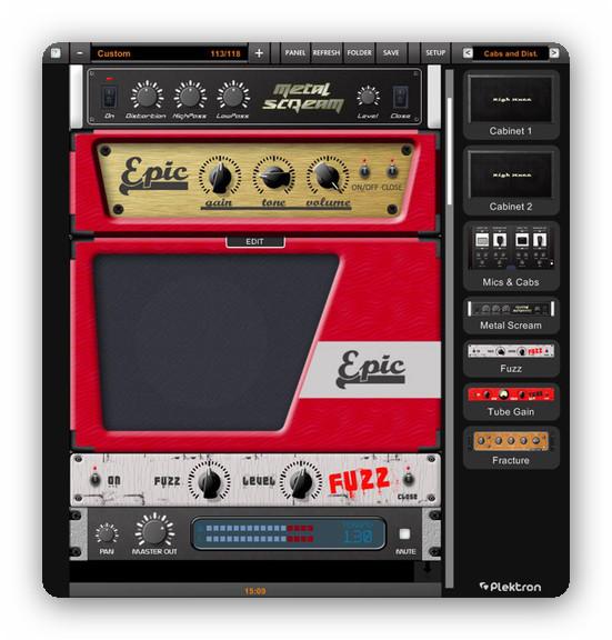 Plektron Guitar Amp v.2.0 - Simulador de amplificadores y multi-efectos para guitarra y bajo