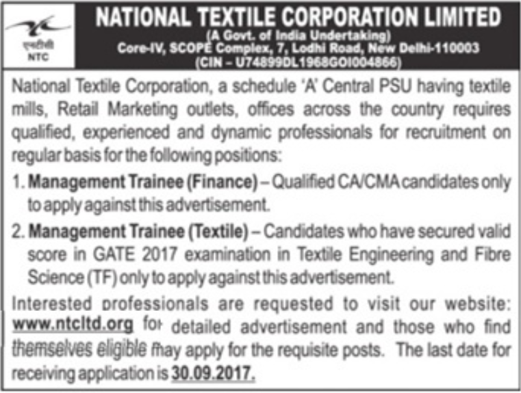 [NTC+Limited+Management+Trainee+Jobs+2017+www.indgovtjobs.in%5B2%5D]