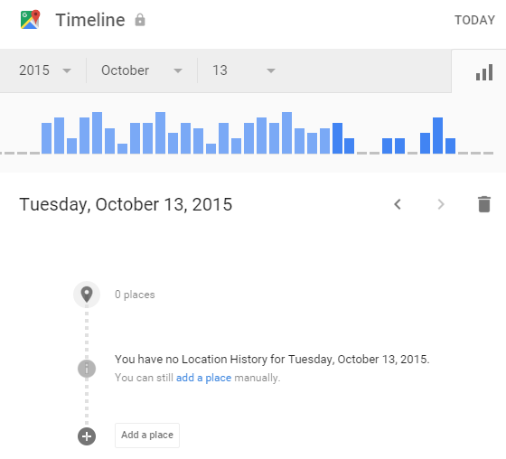 how to use google maps timeline