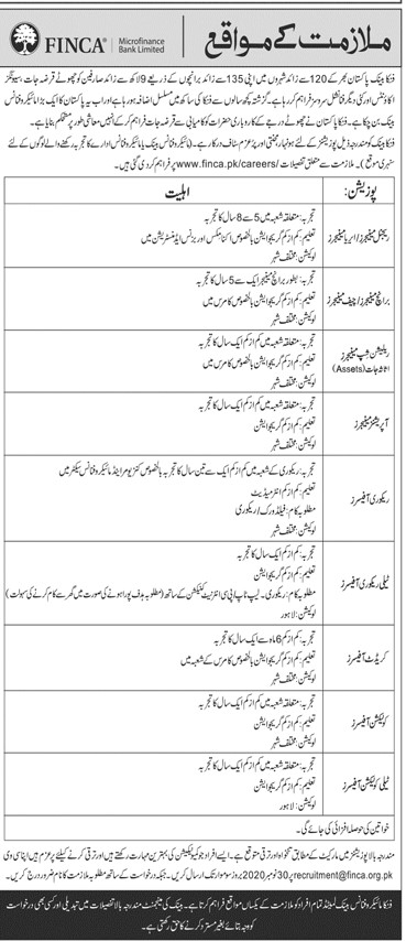Microfinance Bank Limited Jobs