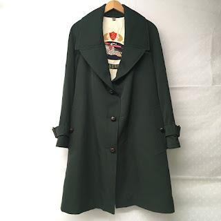 Burberry Green Wool Coat