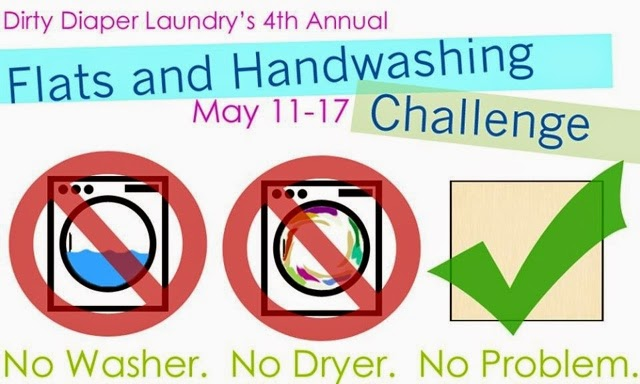 Dirty Diaper Laundry's 4th Annual Flats and Handwashing Challenge #flatschallenge