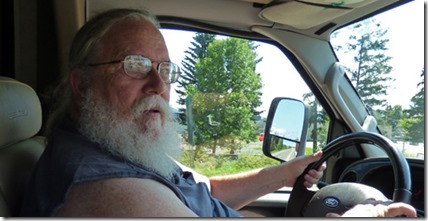 Me driving the Cariboo Highway, BC