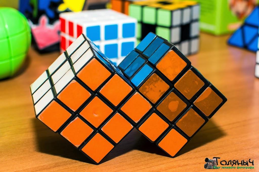 Вот такая модификация кубика - даже не знаешь, что там крутить