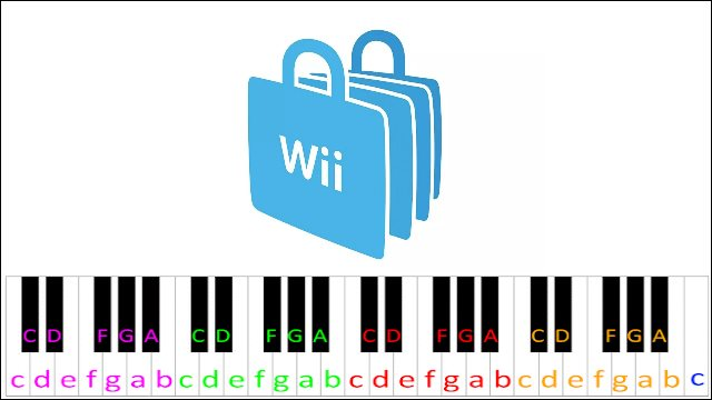 Wii Shop Channel Music ~ Piano Letter Notes