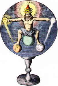 Frontispiece From Johann De Monte Snyders Metamorphosis Planetarum Amsterdam 1663, Alchemical And Hermetic Emblems 1
