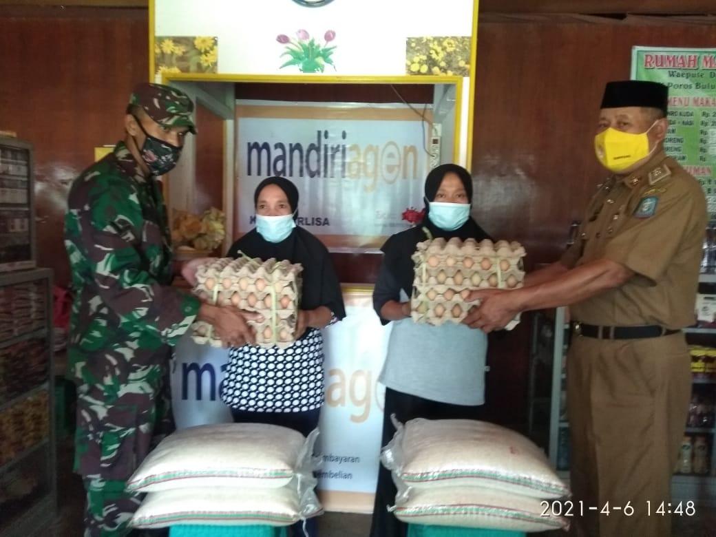 Melalui E-Warung, Program BPNT Kembali Tersalur di Desa Gattareng Kepada 155 Warga Penerima
