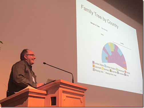 Brian Edwards at the 2016 BYU Family History and Genealogy Conference