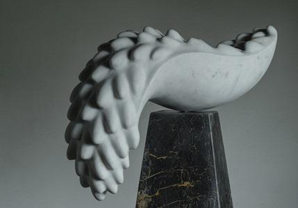 Menura: CARRARA MARBLE, 2016: W 60cm, H 57 cm, D 23 cm; £6,500