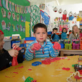 Reception having fun with playdough