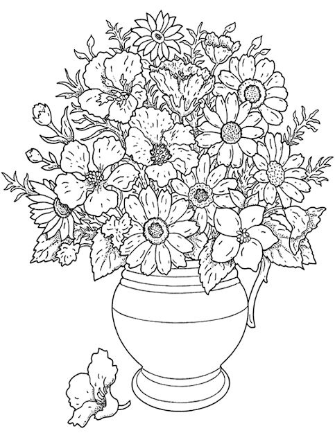 Printable Coloring Pages For Girls Flowers  Cooloring