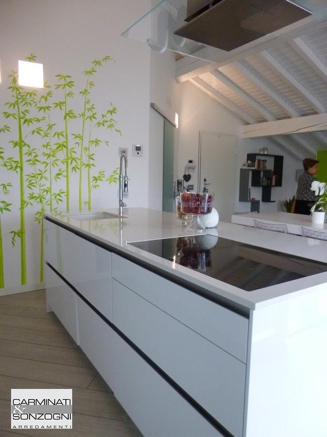 piano cottura induzione su isola. di una cucina Snaidero modello way .JPG