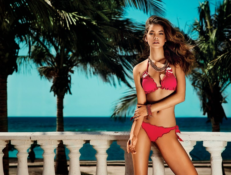 Twin-set Beachwear, campaña PV 2014: Barbara Palvin