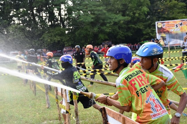 128 Damkar se-Kalselteng Ikuti Lomba Ketangkasan di Kapuas