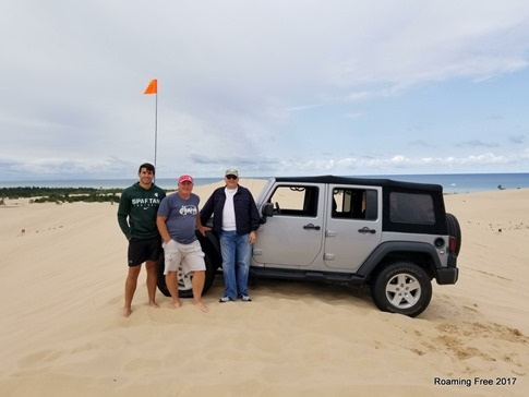 Guys having fun at the dunes