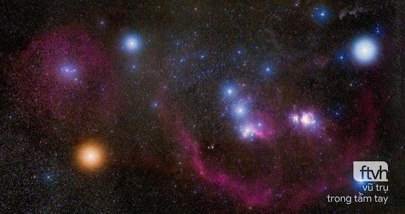 Hình ảnh góc rộng về chòm sao Orion
