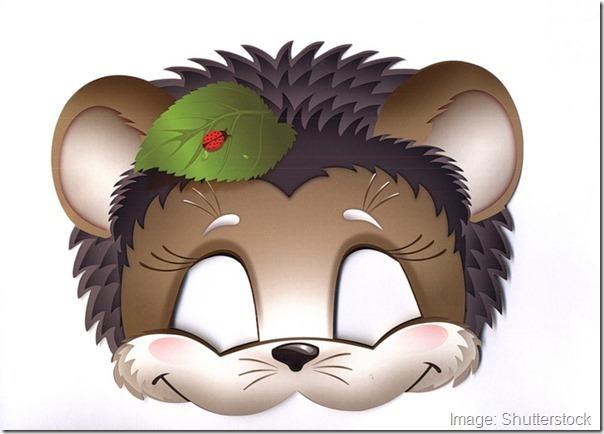 kids-face-masks-template-animals-hedgehog-print