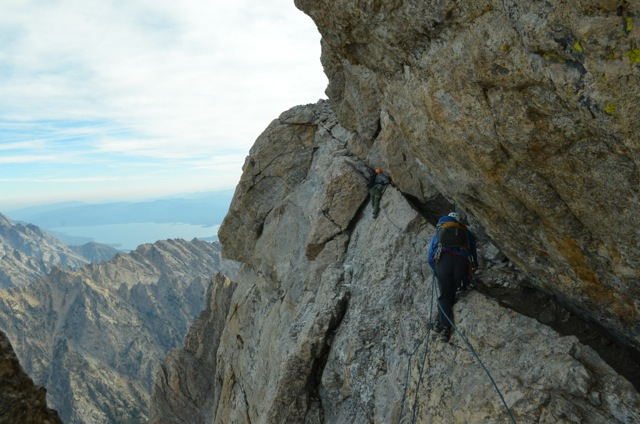 Climbing Grand Teton requires a great deal of technical skill