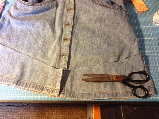 diy jeans upcycling 4 tasche aus einem kleid schnittchens welt. Black Bedroom Furniture Sets. Home Design Ideas
