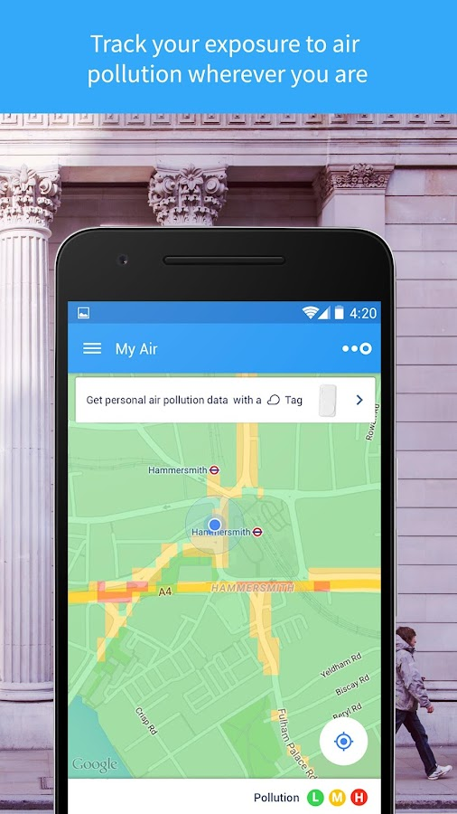 CleanSpace – Air Pollution App- screenshot