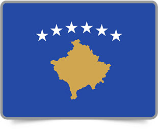 Kosovar framed flag icons with box shadow