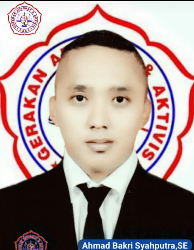 Ahmad Bakri Syahputra S.E Mengucapkan Selamat Atas Terpilihnya Surianto Sebagai Ketua DPD GAAS SUMUT