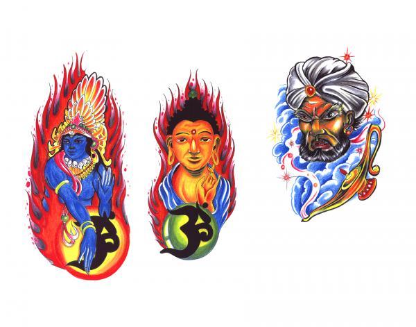 Design Of Silent Tattoo 9, Fantasy Tattoo Designs