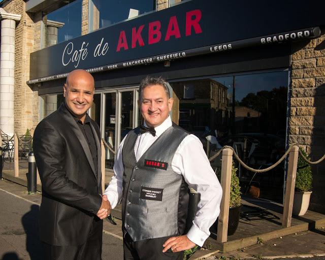 Shabir Hussain of Akbars Restaurants with Snooker Legend Joe Johnson!
