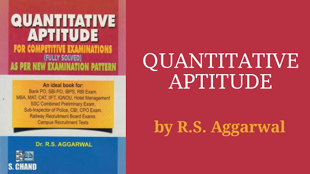 Rs Aggarwal Aptitude Book 2015