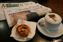 Coloane : cappucino, Pastéis de Nata, Ponto Final et Macau Post