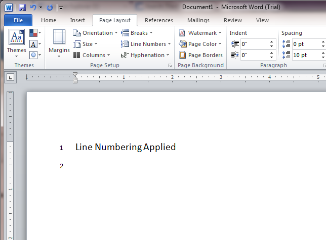 how to add lines in microsoft word