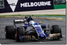 Antonio Giovinazzi nelle qualifiche del gran premio d'Australia 2017
