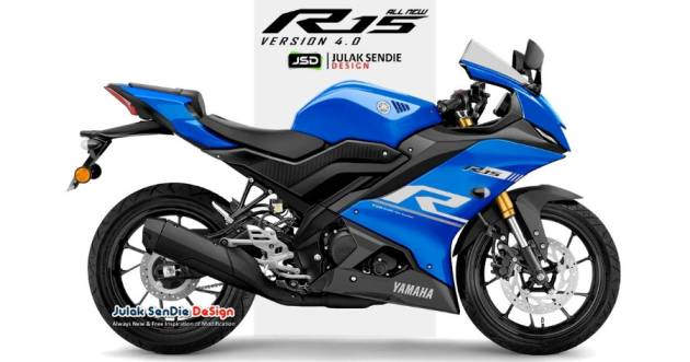 All New Yamaha YZF-R15M new look, ready to be launched on September 21, 155cc VVA with ABS brakes front - rear!