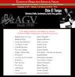 Programa del Concierto de Dúo El Tango, en Amigos de la Guitarra de Valencia