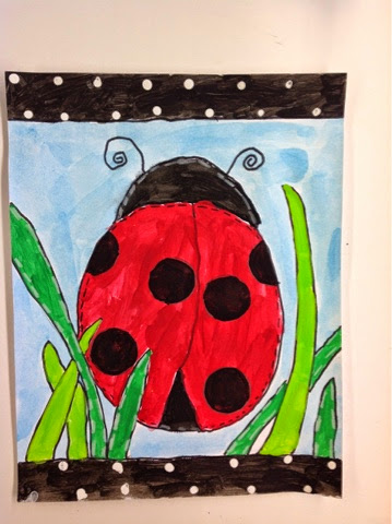 Color it like you mean it 1st grade ladybugs art by me for Ladybug arts and crafts