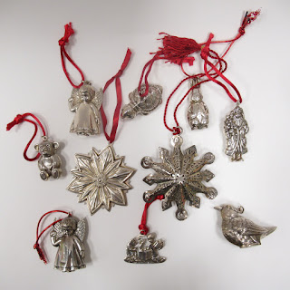 Sterling Silver Christmas Ornament Lot