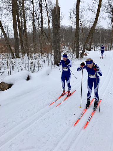 Skiers in Tuesday's conference meet