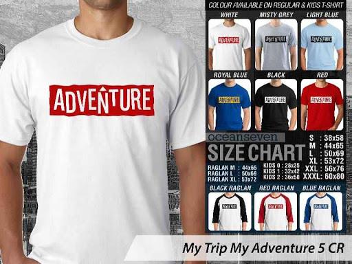 Kaos Wisata Indonesia My Trip My Adventure 5 distro ocean seven