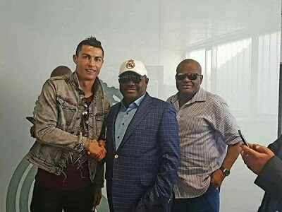 Rivers State Governor, Mr Wike Pictured With Cristiano Ronaldo And Sergio Ramos in Spain