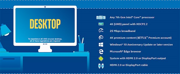 Requisitos Reproducción UHD con INTEL Core i3