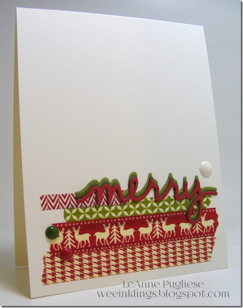 LeAnne Pugliese WeeInklings Washi Washi Merry Christmas stampin UP