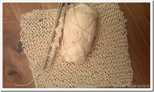 Basic knitted dishcloth