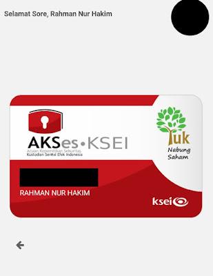 kartu digital AKSes KSEI