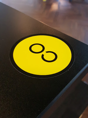 Small details. Tables marked with the 'CO' sticker - for co-working - are meant for common use.