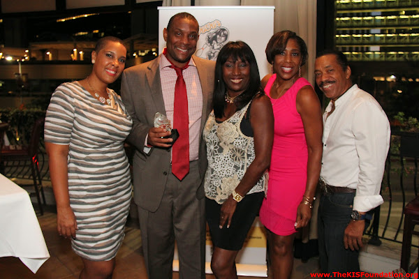 LaTonia Robinson, Andre' Dawson, KiKi Shepard, Dawnn Lewis, and Obba Babatunde at Sponsors Awards Reception for KiKi's Celebrity Bowling Challenge (Sept. 2014)