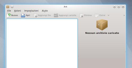 Ark su KDE