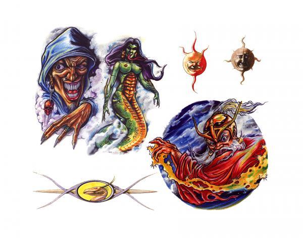 Design Of Horror Tattoo 4, Fantasy Tattoo Designs
