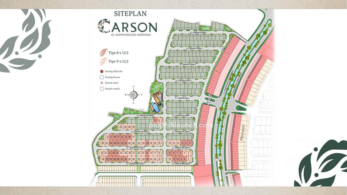 Siteplan Cluster Carson Summarecon Serpong
