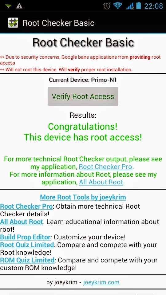 root walton primo